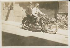 Espagne, Madrid, Moto en Ville  Vintage print, Photographie provenant d'un