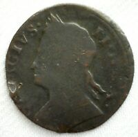 1771 US Colonial 1/2 Penny Great Britain Mule George II Contemporary Copper