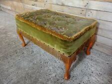 VINTAGE  STOOL WITH  DECORATIVE VELVET FABRIC