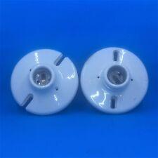 Vintage White Porcelain Light Fixture Base and Socket  - 660W- 250V - Set of 2