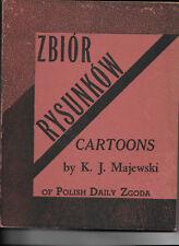 POLISH DAILY ZGODA, POLITICAL CARTOONS 1947 MAJEWSKI, K. J.