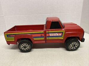 1980's Tonka Red Pick Up Truck Black Window Complete