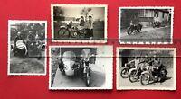 5 x altes Motorrad Foto Motorrad mit Kennung IK - 320039 Beiwagen Typen ( 41217