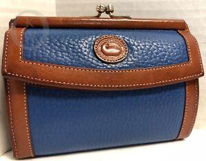 *HTF*Vintage~Dooney & Bourke AWL*French Blue*Wallet* 18312L S165