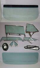 1962 CHEVROLET PONTIAC 2 DR HT WINDSHIELD SIDE GLASS IN FRAMES BACK & GASKETS