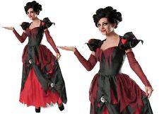 Sinder Vampire Queen Ladies Halloween Vampiress Fancy Dress Costume