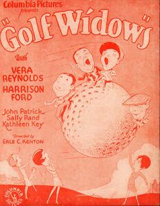 Golf Widows Original US Movie Herald from the 1928 Movie