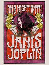 Janis Joplin - Concert VINTAGE BAND POSTERS Song Rock Travel Old Advert #ob