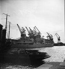 DUNKERQUE c. 1950 -Navire Bateau Port de Commerce Nord - Négatif 6 x 6 - N6 ND10