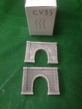 2 X Z Scale Concrete Style Tunnel Entrances-painted