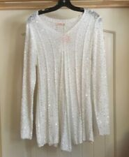 NWT womens blouse size small white sequence long sleeve