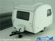 MICROLITE MODEL CARAVAN NIEWIADOW N126 1:43 SIZE WHITE + DISPLAY CASE 1970'S K8