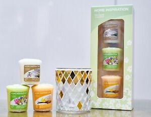 Yankee Candle 3 Votive or Mosaic Votive Holder or 10 Tea light Gift Set