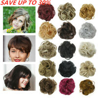 Easy-To-Wear Stylish Hair Scrunchies - Messy Bun Hairpieces Wig 44 Colors NICE ~