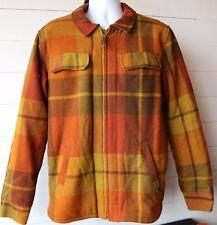 Prana Men's M Multi-Color Plaid Wool Blend Zip Front Coat Jacket