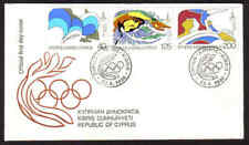 Cyprus Stamps SG 542-44 1980 Moscow Olympic games Official FDC Kibris