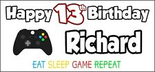 Xbox Controller 13th Birthday Banner x 2 Party Decorations Boys Girls ANY NAME