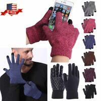 US Men Women Touch screen Knit Gloves Winter Warm Thermal Windproof Mittens Glof