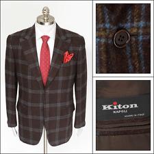 Mens KITON Plaid Wool 2Btn Coat Jacket 54 44 R / 44 S NWT Fall 2015 UG86