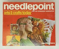 Needlepoint Arts and Crafts Today 1972 Hasbro Vintage Mid-Century