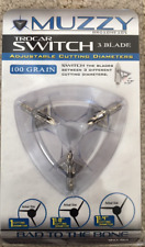 Muzzy Trocar Switch Adjustable Cutting Diameter 3 Blade 100 Grain NEW IN PACK