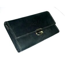 Pro Real Leather Waiter Wallet Suede Taxi Purse Bag