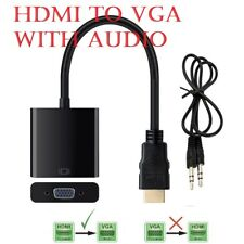 HDMI to VGA with Audio Output Cable Converter Adapter Lead for HDTV PC PS3 Xbox