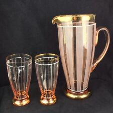 Pink Date-Lined Glass Hand Blown