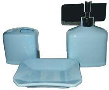 Bath Acessory Set Ceramic 3 Piece Blue