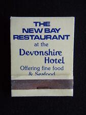 THE NEW BAY RESTAURANT DEVONSHIRE HOTEL 329 NEW ST BRIGHTON 5964949 MATCHBOOK