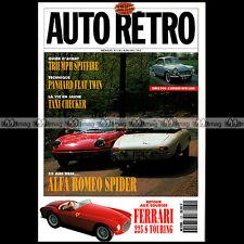 AUTO RETRO N°130 ALFA SPIDER DUETTO TRIUMPH SPITFIRE DELAGE D6 SIMCA ARONDE P60