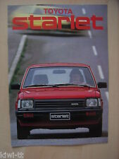 Toyota Starlet (Serie P6) Prospekt / Brochure / Depliant, Norwegen, 10.1983