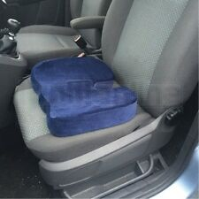 Blue Memory Foam Pressure Relieve Spin Coccyx Back Support Car Seat Cushion