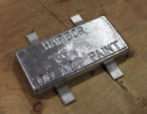 Lead Zinc Anode Marine 20 Pound w/ 4 Tabs NEW