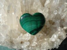 Malachite Heart-From Africal -Emerald Green-Strong Heart Energy!