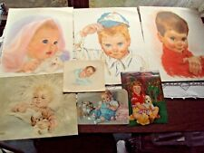 Baby Prints 7 Total Artists Florence Kroger Maud Tousey Fangel Northern Vintage