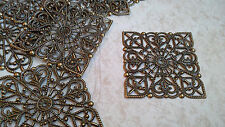 8 X FILIGREE SQUARES - EMBELLISHMENT , SCRAPBOOKING, CARDMAKING