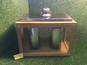 WOODEN CANDLE LANTERN WITH 2 SILVER CANDLES