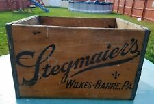 1949 STEGMAIER Beer Wood Crate Wooden Box Bottles Old Case Wilkes-Barre Pa