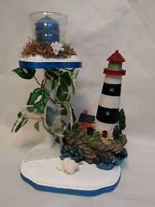 Handmade, unique, OoaK, Lighthouse, Beach, Seaside, Candle Holder, Photo Frame