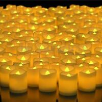 48/72/96/216X Flameless Votive Candles Battery Operated Flickering LED Tea Light
