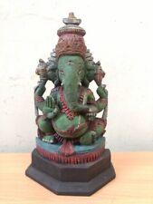 Hindu God Ganesh Sculpture Ganesha Handcarved Statue Vintage Murti Idol Figurine