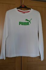 Boys Puma Long Sleeved White T Shirt Size 30/32