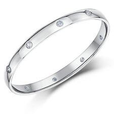 Platinum Diamond Ring Forme Cour Mariage Bague 2mm Band