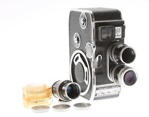 Bolex B8 Movie Camera W/ 3 Lenses