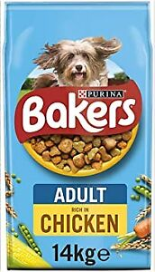 Bakers Adult Chicken Vegetables Dry Dog Food 3/5/14kg  -  FREE NEXT DAY DELIVERY