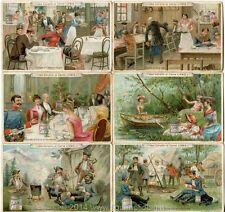 Chromo Liebig Sang. 261 ITA L'Estratto in Varie Contingenze ANNO 1890