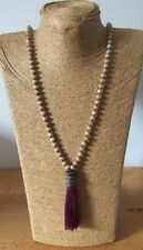 Fashion BohemianTribal Long Tassel Glass Crystal beads Necklace For Women Gift