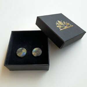 Couple of Labradorite Ear Plugs 14mm 9/16""