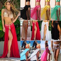 Bikini Cover Up Womens Maxi Skirt Wrap Sarong Dress Swimwear Swimsuit Beach Wear